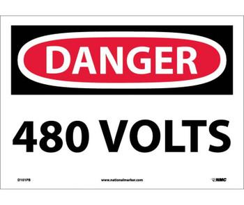 Danger 480 Volts 10X14 Ps Vinyl