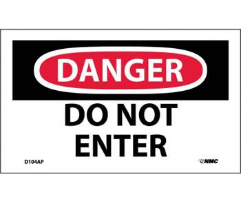 Danger Do Not Enter 3X5 Ps Vinyl 5Pk
