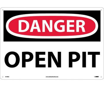 Danger Open Pit 14X20 .040 Alum