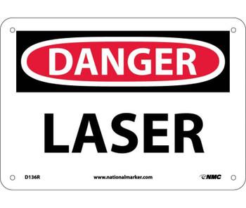 Danger Laser 7X10 Rigid Plastic