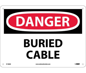 Danger Buried Cable 10X14 .040 Alum