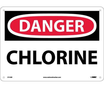 Danger Chlorine 10X14 .040 Alum