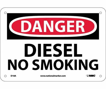 Danger Diesel No Smoking 7X10 .040 Alum