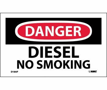 Danger Diesel No Smoking 3X5 Ps Vinyl 5Pk
