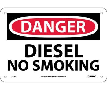 Danger Diesel No Smoking 7X10 Rigid Plastic