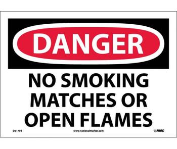 Danger No Smoking Matches Or Open Flames 10X14 Ps Vinyl