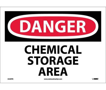 Danger Chemical Storage Area 10X14 Ps Vinyl