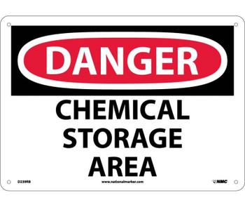 Danger Chemical Storage Area 10X14 Rigid Plastic