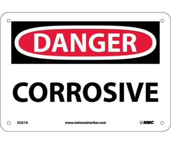 Danger Corrosive 7X10 .040 Alum