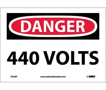 Danger 440 Volts 7X10 Ps Vinyl