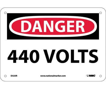 Danger 440 Volts 7X10 Rigid Plastic