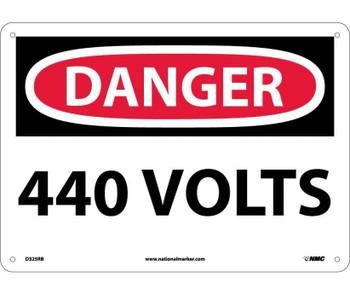 Danger 440 Volts 10X14 Rigid Plastic