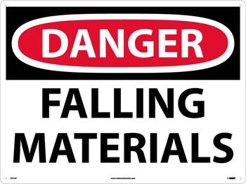 Danger Falling Material 18X24 .040 Alum