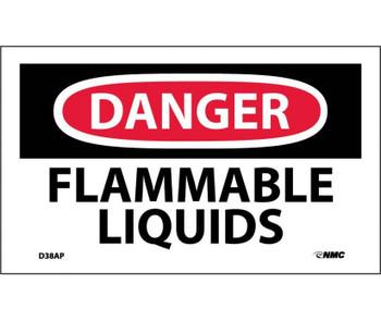Danger Flammable Liquids 3X5 Ps Vinyl 5Pk