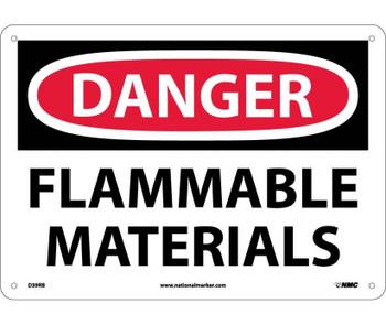 Danger Flammable Materials 10X14 Rigid Plastic