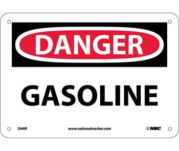 Danger Gasoline 7X10 Rigid Plastic