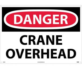 Danger Crane Overhead 20X28 .040 Alum