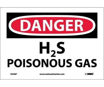 Danger H2S Poisonous Gas 7X10 Ps Vinyl