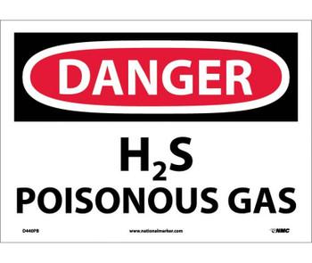 Danger H2S Poisonous Gas 10X14 Ps Vinyl