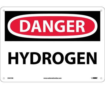 Danger Hydrogen 10X14 .040 Alum
