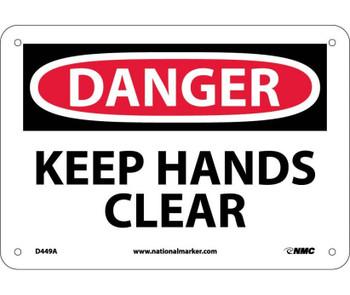Danger Keep Hands Clear 7X10 .040 Alum