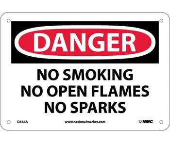 Danger No Smoking No Open Flames No Sparks 7X10 .040 Alum