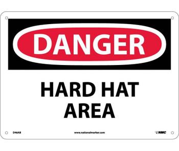 Danger Hard Hat Area 10X14 .040 Alum