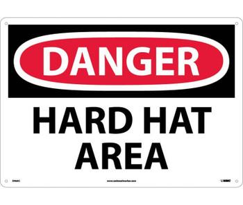 Danger Hard Hat Area 14X20 .040 Alum
