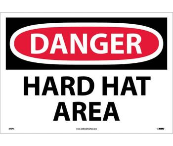 Danger Hard Hat Area 14X20 Ps Vinyl