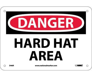 Danger Hard Hat Area 7X10 Rigid Plastic