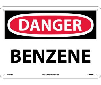 Danger Benzene 10X14 .040 Alum