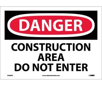 Danger Construction Area Do Not Enter 10X14 Ps Vinyl