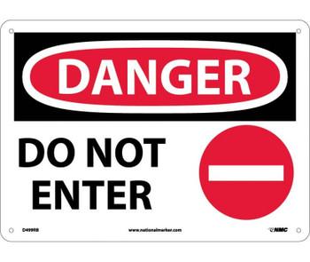 Danger Do Not Enter Graphic 10X14 Rigid Plastic