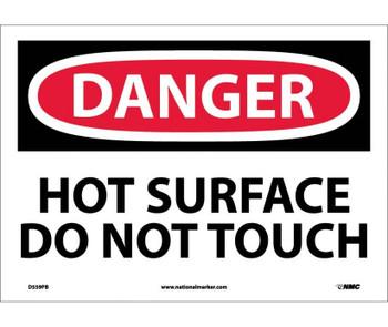 Danger Hot Surface Do Not Touch 10X14 Ps Vinyl