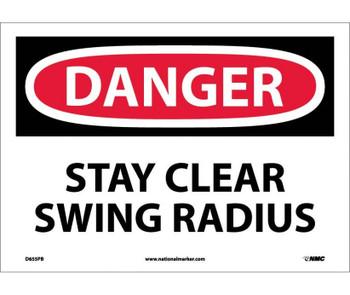 Danger Stay Clear Swing Radius 10X14 Ps Vinyl