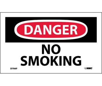 Danger No Smoking 3X5 Ps Vinyl 5Pk