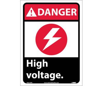 Danger High Voltage (W/Graphic) 14X10 Ps Vinyl