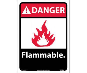Danger Flammable (W/Graphic) 14X10 Ps Vinyl