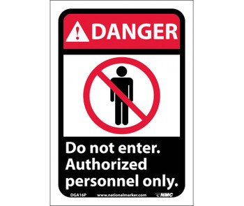 Danger Do Not Enter Authorized Personnel Only (W/Graphic) 10X7 Ps Vinyl