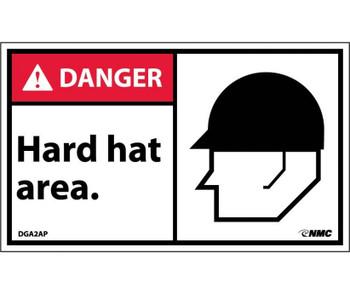Danger Hard Hat Area (Graphic) 3X5 Ps Vinyl 5/Pk