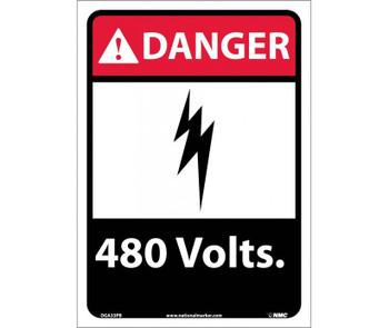 Danger 480 Volts 14X10 Ps Vinyl