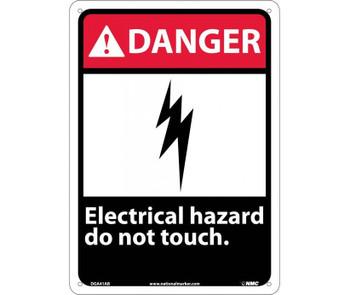 Danger Electrical Hazard Do Not Touch 14X10 .040 Alum