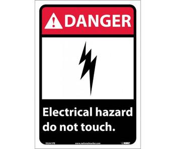 Danger Electrical Hazard Do Not Touch 14X10 Ps Vinyl