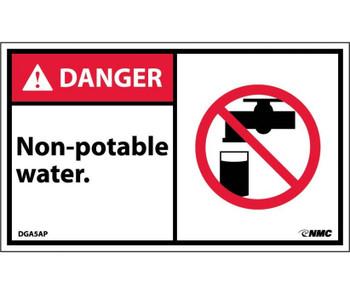Danger Non-Potable Water (Graphic) 3X5 Ps Vinyl 5/Pk