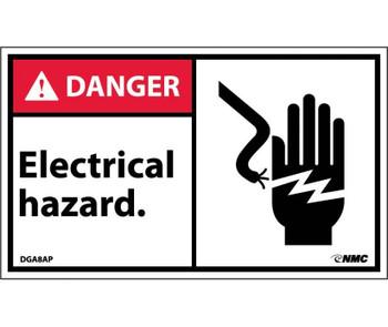 Danger Electrical Hazard (Graphic) 3X5 Ps Vinyl 5/Pk