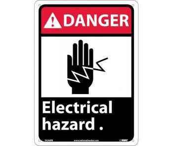 Danger Electrical Hazard (W/Graphic) 14X10 Rigid Plastic
