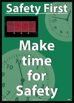 Digital Scoreboard Safety First Make Time For Safety