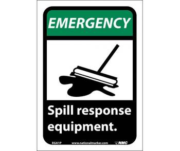 Emergency Spill Response Equipment (W/Graphic) 10X7 Ps Vinyl