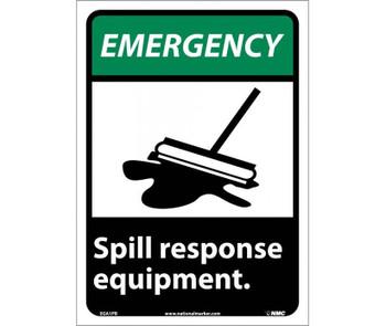 Emergency Spill Response Equipment (W/Graphic) 14X10 Ps Vinyl
