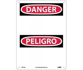 Danger Peligro (Blank) 14X10 .040 Alum